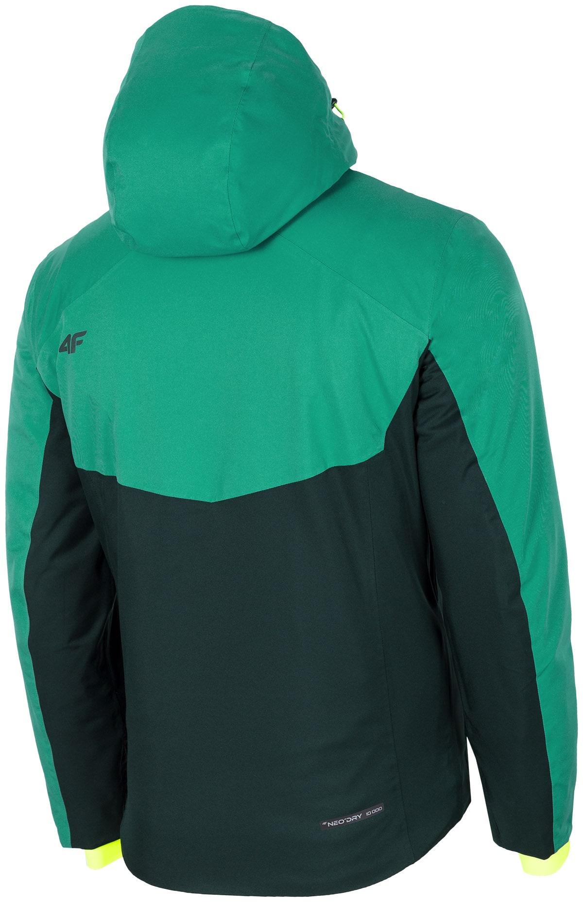 8d72115918f1 Pánska lyžiarska bunda KUMN258 - morská zelená