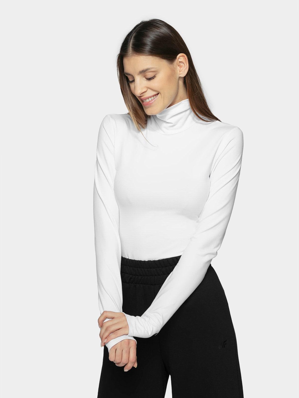 Dámske tričko s dlhým rukávom a stojačikom