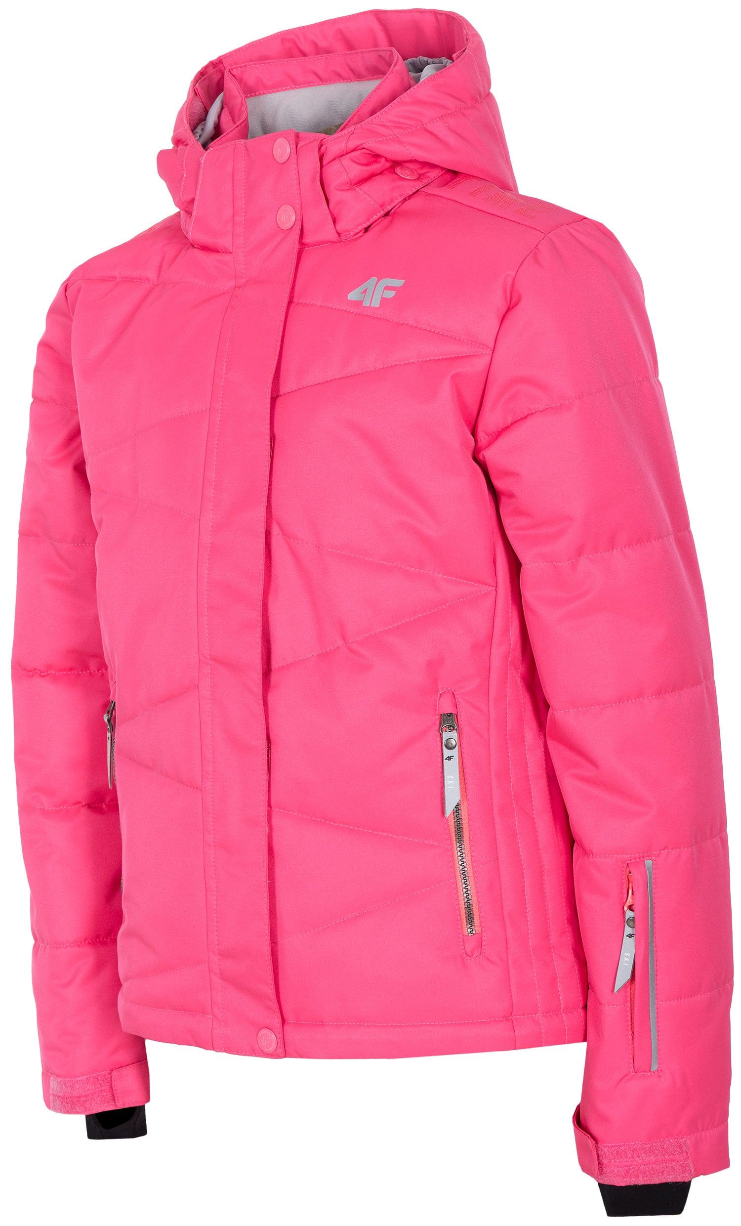 11cbd977a Lyžiarska bunda pre staršie deti (dievčatá) JKUDN400 - fuksiová
