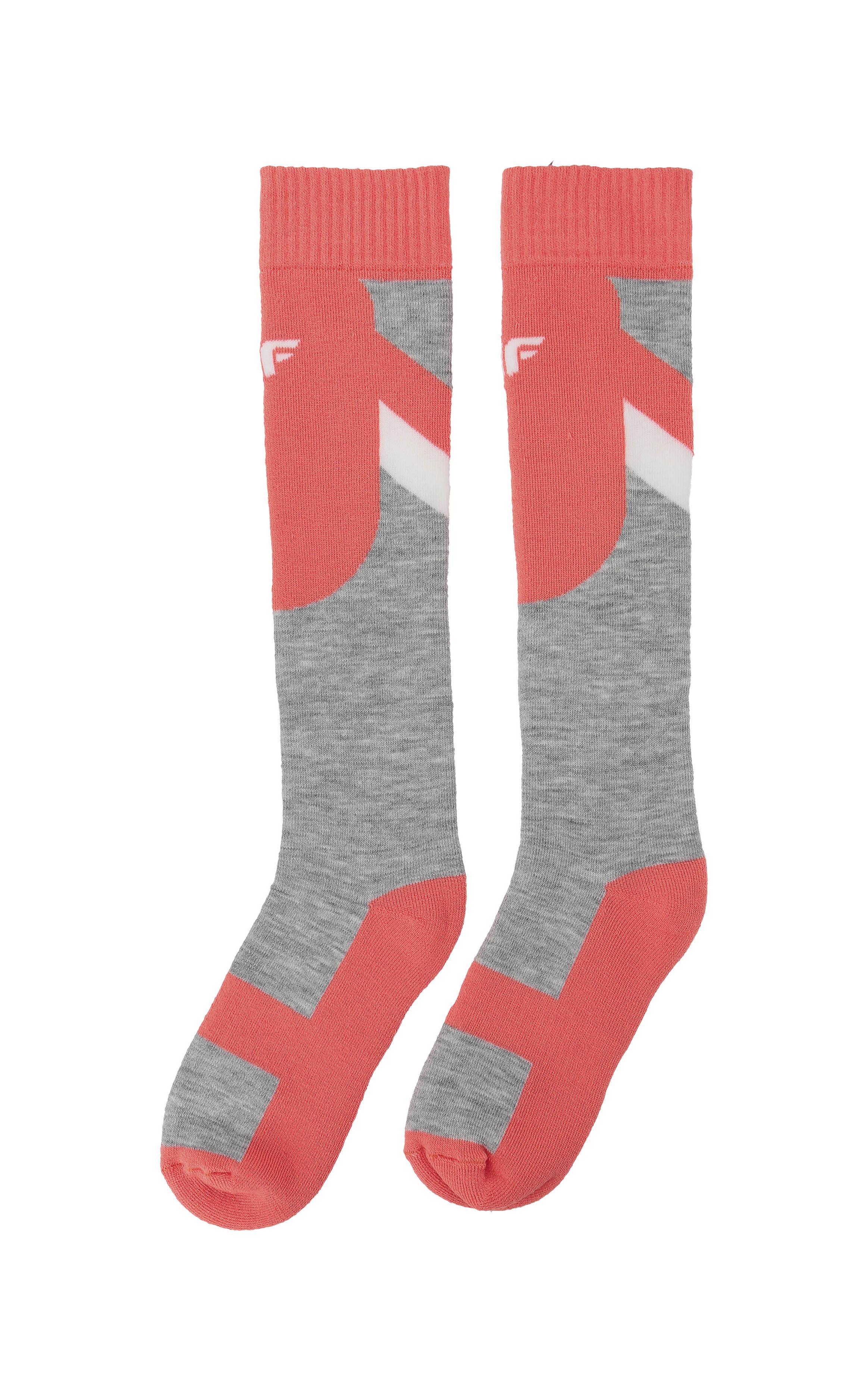 385dcdb9a Lyžiarske ponožky pre staršie deti (dievčatá) JSODN400 – neónová koralová