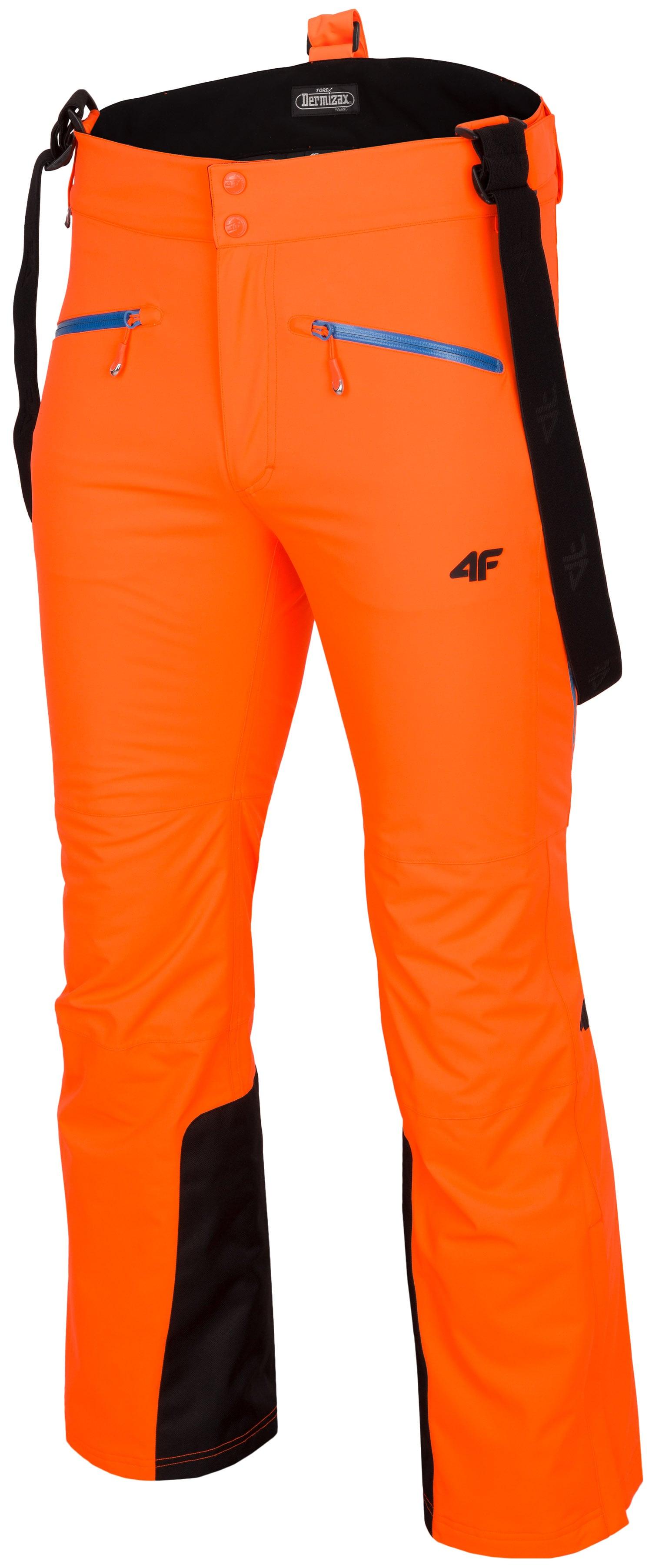 12b6ca923 Pánske lyžiarske nohavice SPMN151 – neónová oranžová