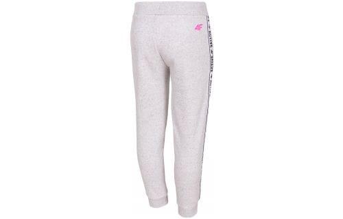 Teplákové nohavice pre mladšie deti (dievčatá) JSPDD210 - svetlošedá melanž