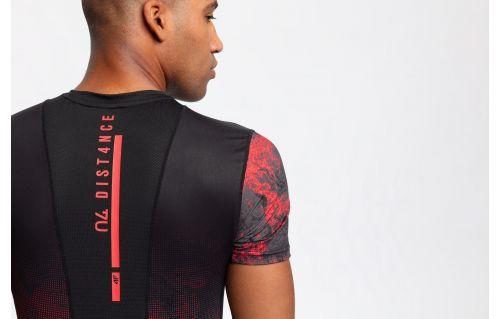 Pánske tréningové tričko TSMF200 - červená allover