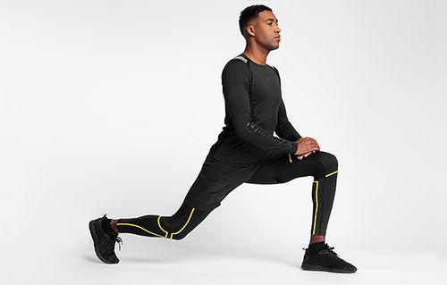 Pánske tréningové tričko s dlhým rukávom TSMLF150 - čierna