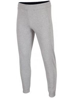Pánske teplákové nohavice SPMD001 - svetlošedá melanž