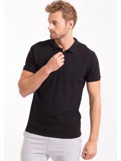 Pánske polo tričko TSM051 - čierna