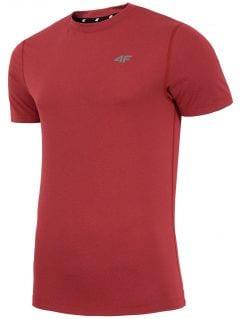 Pánske tréningové tričko TSMF002  - červená melanž