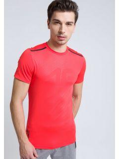 Pánske tréningové tričko  TSMF208  - červený neón