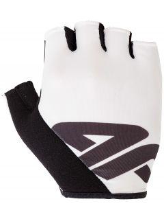 Cyklistické rukavice unisex  RRU200 - biela