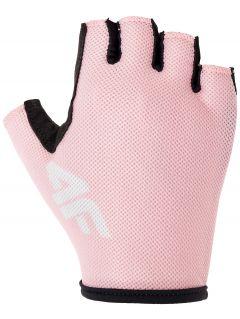 Cyklistické rukavice unisex RRU300 - svetlá ružová