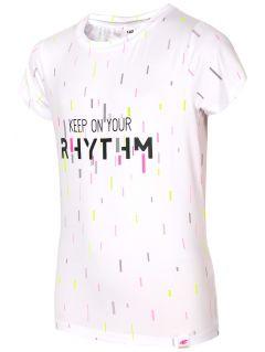 Športové tričko pre staršie dievčatá JtSD403 - biela
