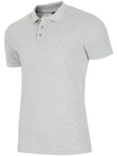 Pánske polo tričko TSM051A - svetlošedá melanž
