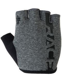 Cyklistické rukavice RRU005 - tmavošedá melanž