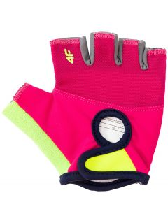 Cyklistické rukavice pre staršie dievčatá JRRD206 - multikolor