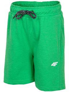 Teplákové šortky pre mladších chlapcov jskmd106 - zelený neón