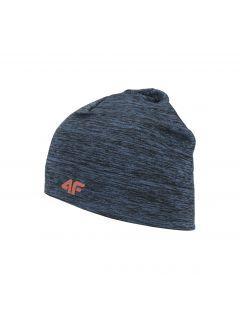 Pánska bežecká čiapka CAU300 - tmavomodrá melanž