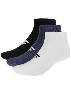 Pánske ponožky (3 páry) SOM302 - čierna+tmavomodrá melanž+biela