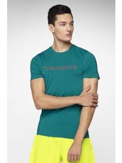 9173f9d53c66 Pánske tréningové tričko TSMF284 - morská zelená