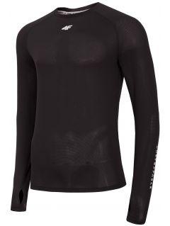 Pánske funkčné tričko s dlhým rukávom TSMLF200 - hlboko čierna 73e20870d7d