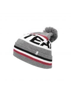 Pánska čiapka CAM256 - šedá melanž