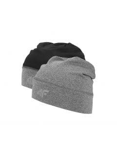 Športová čiapka unisex CAU201 - stredne šedá melanž