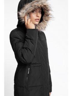 Dámsky kabát so syntetickou výplňou KUD008 - čierna