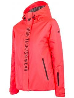 Dámska lyžiarska bunda  KUDN162 - neónová lososová