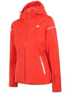 Dámska lyžiarska bunda KUDN300 – červená