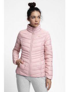 Dámska bunda so syntetickou výplňou KUDP210 - svetloružová