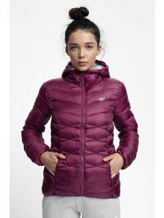 Dámska bunda so syntetickou výplňou KUDP211 – tmavofialová
