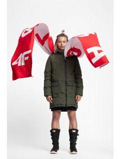 Dámska bunda so syntetickou výplňou KUDP216 – kaki