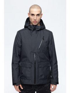 Pánska mestská bunda KUM205 - čierna melanž