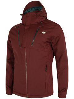 Pánska lyžiarska bunda KUMN254 – burgundská červená