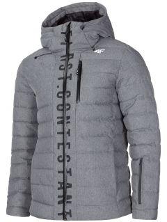 Pánska zimná bunda KUMP203 - tmavošedá melanž