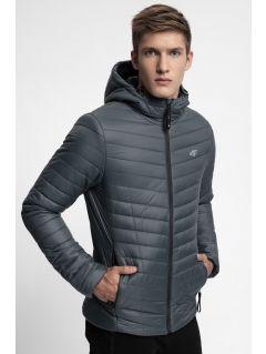 Pánska bunda so syntetickou výplňou KUMP301 - tmavošedá