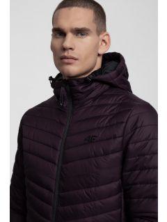 Pánska bunda so syntetickou výplňou KUMP301 -  tmavo fialová