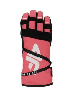 Dámske lyžiarske rukavice RED253 – neónová lososová