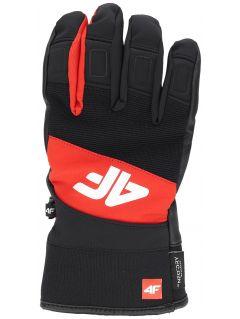 Pánske lyžiarske rukavice  REM250 – červená