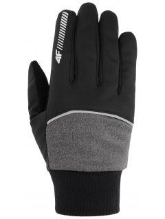 Softshellové rukavice unisex REU104 - stredne šedá