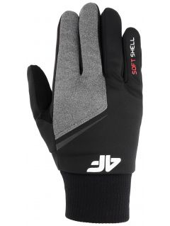 Softshellové rukavice unisex REU107 - čierna