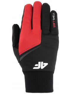 Softshellové rukavice unisex REU107 - červená