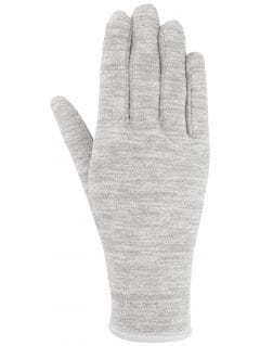 Športové rukavice unisex REU301 - stredne šedá melanž