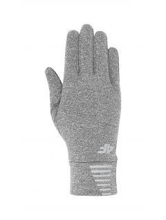 Športové rukavice unisex REU303 - stredne šedá melanž
