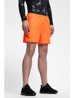 Pánske tréningové šortky SKMF253 - neónová oranžová