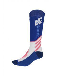 Dámske lyžiarske ponožky SODN150 – kobaltová modrá