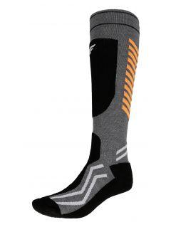 Pánske lyžiarske ponožky SOMN350 – šedá