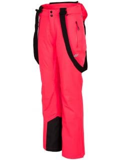 Dámske lyžiarske nohavice SPDN201 – neónová lososová