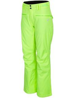 Dámske lyžiarske nohavice SPDN270 - neónová sveltožltá