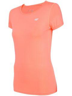 Dámske tréningové tričko TSDF206 – koralový neón