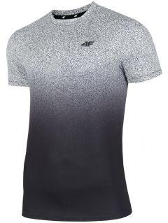 Pánske tréningové tričko TSMF208 - stredné šedá allover